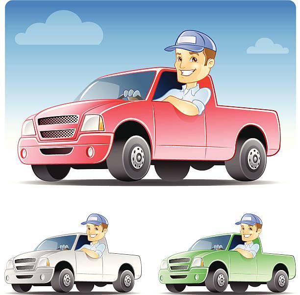 ilustraciones, imágenes clip art, dibujos animados e iconos de stock de serviceman, reparador conducir un camión - conductor de autobús