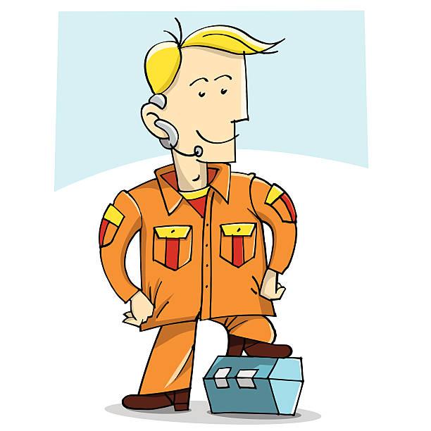 Serviceman vector art illustration