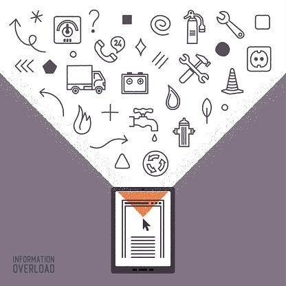 Services & Bills Information Overload Infographic