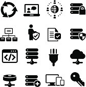 IT Services  Icons - Black Series