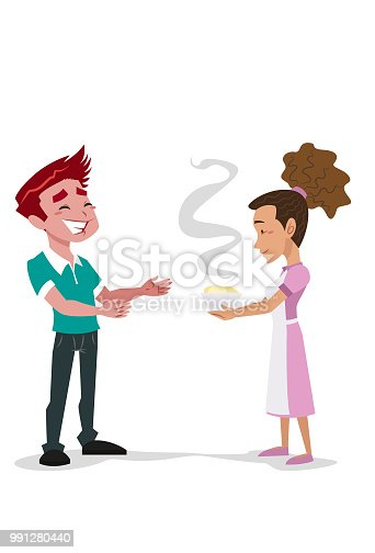 istock Serving food for the boy 991280440