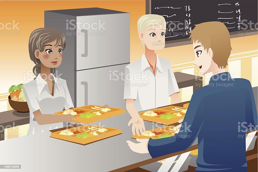 Serving food royalty-free stock vector art