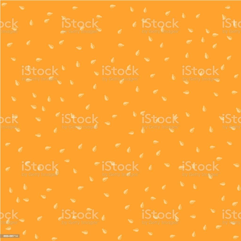 Sesame seeds color seamless background random pattern texture vector art illustration