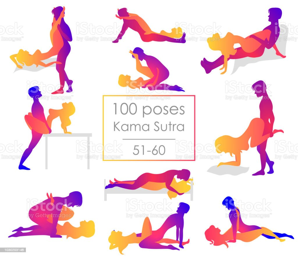 Set 10 Kama Sutra Positions Royalty Free Set 10 Kama Sutra Positions Stock Vector Art