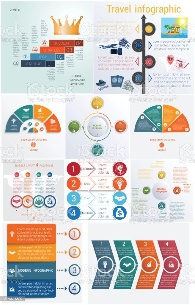 Set 10 Universelle Vorlagen Elemente Infografiken Konzeptionelle ...