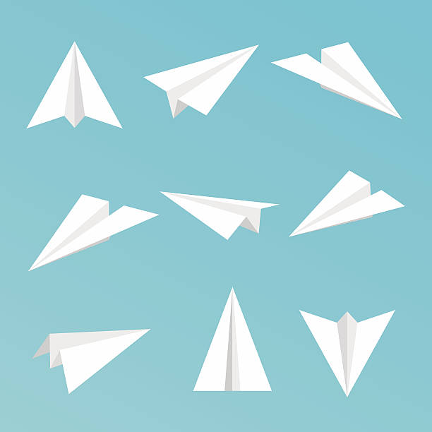 Set a simple paper planes icon. Vector illustration. Set a simple paper planes icon. Vector illustration. aviation and environment summit stock illustrations