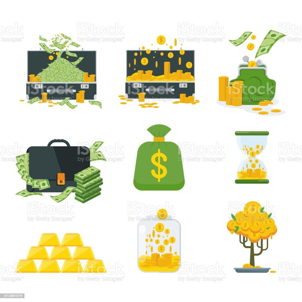 Set a various kind of money