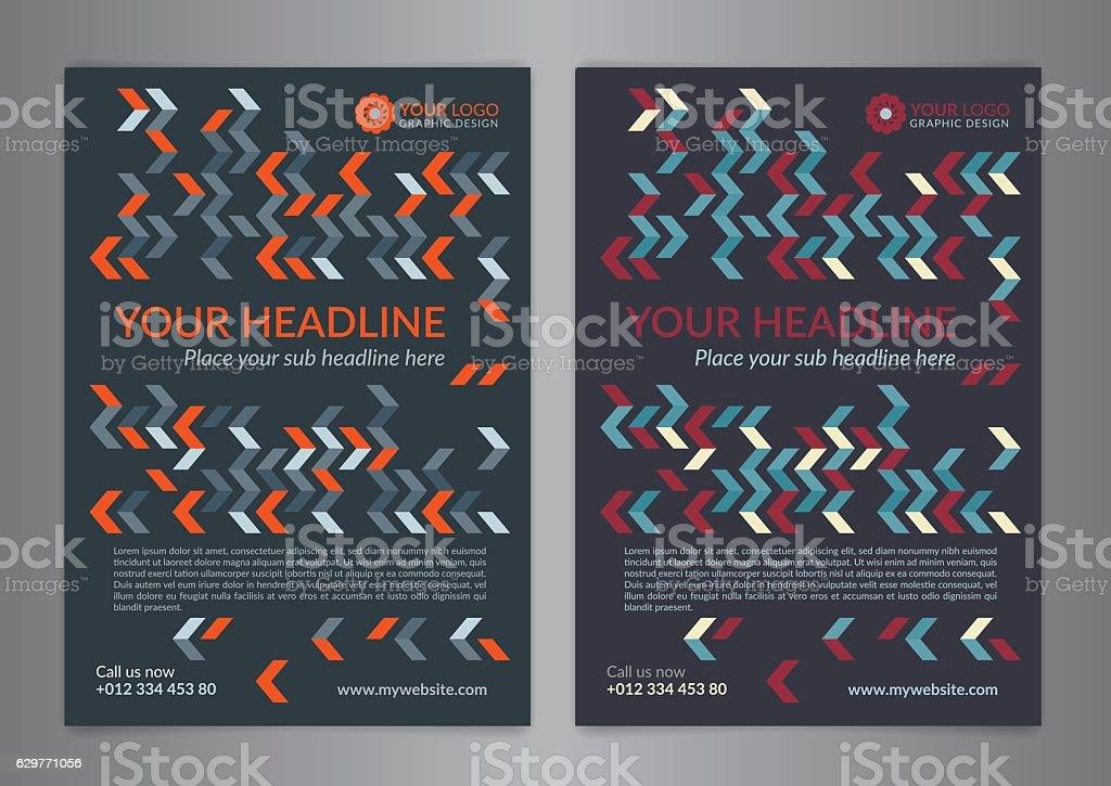Set A5, A4 Business brochure flyer design layout template. royalty-free set a5 a4 business brochure flyer design layout template stock illustration - download image now