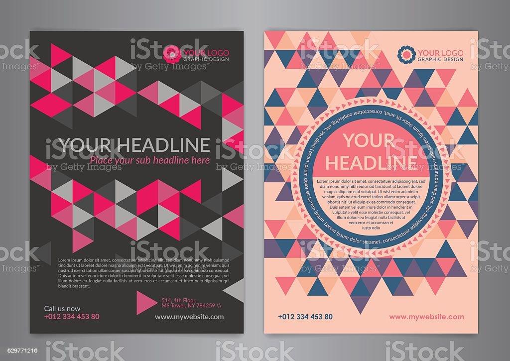 set a5 a4 business brochure flyer design layout template アイデア