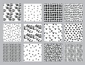 set abstract ink pattern