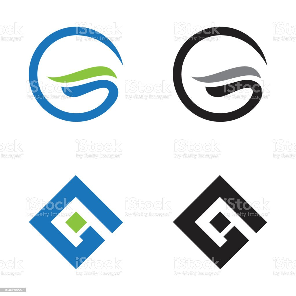 set abstract letter g design vector illustration template royalty free set abstract letter g design