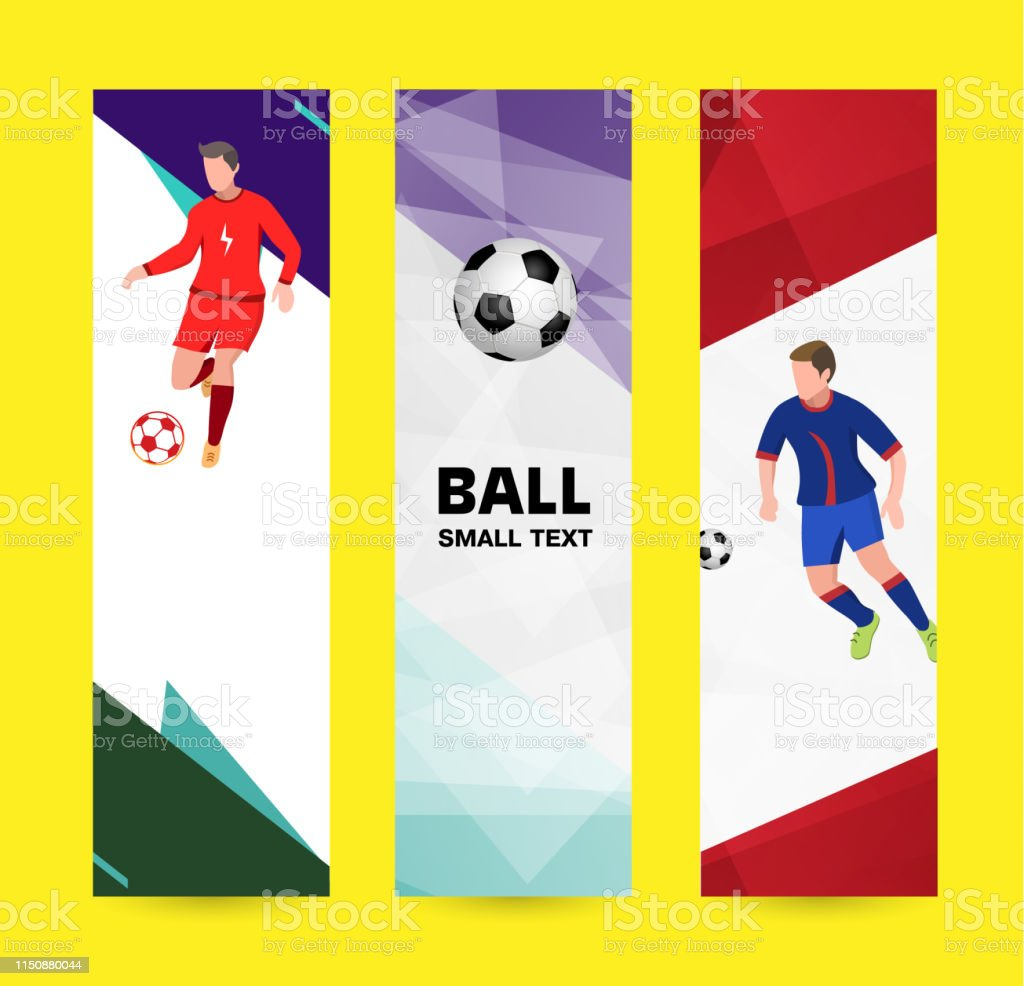 Set abstract sport banner on a light bright background. soccer...