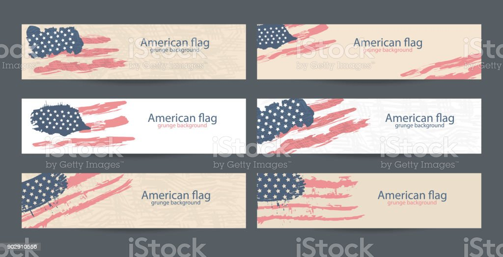 set american flag banner design collection of usa backgrounds for