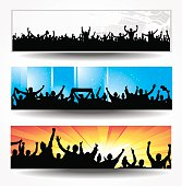 Set banners for sport and concerts