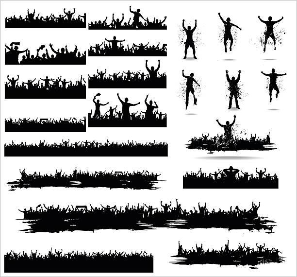 stockillustraties, clipart, cartoons en iconen met set banners for sporting events - cheering
