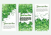 Set banners St. Patrick's Day with glitter