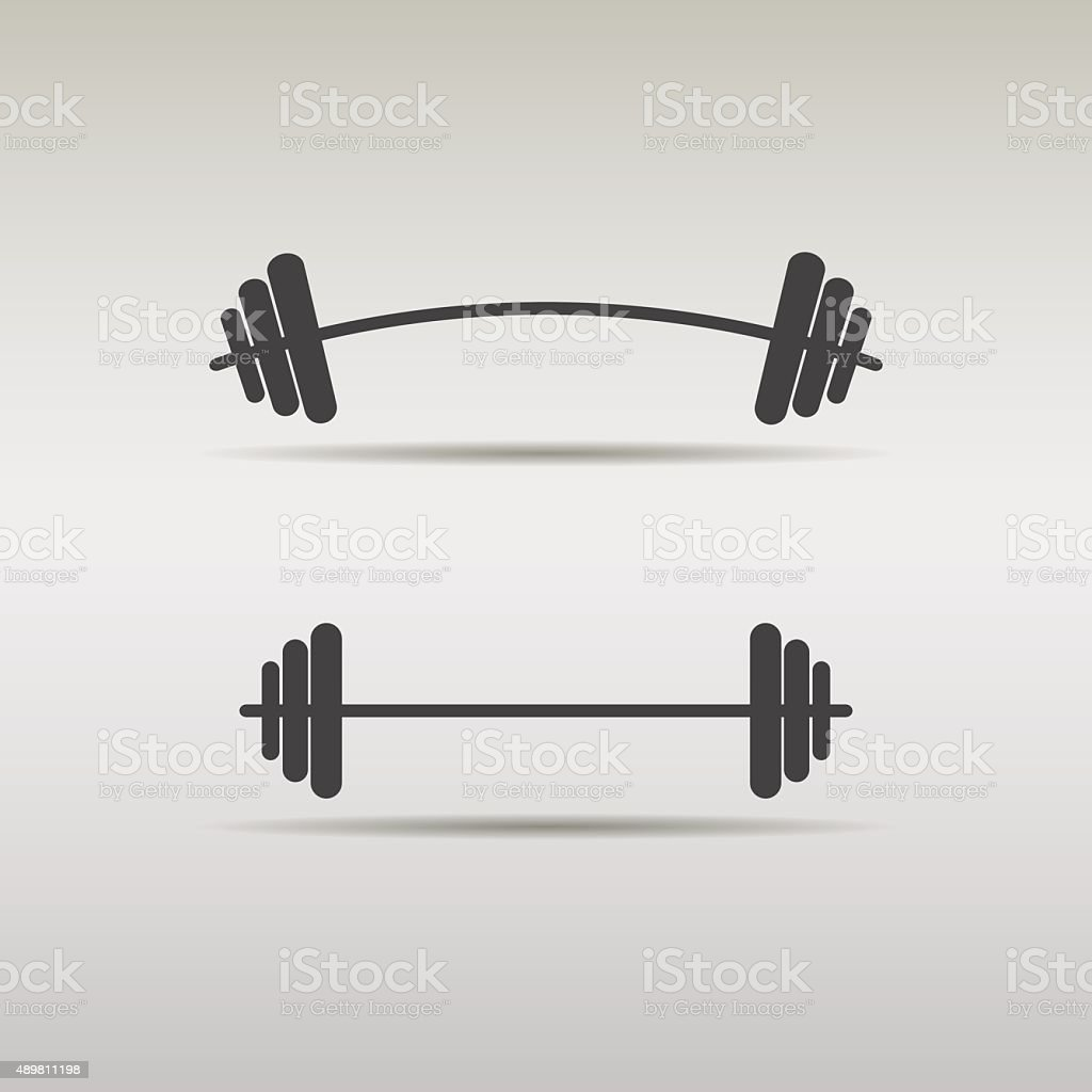 set barbell icon vector art illustration
