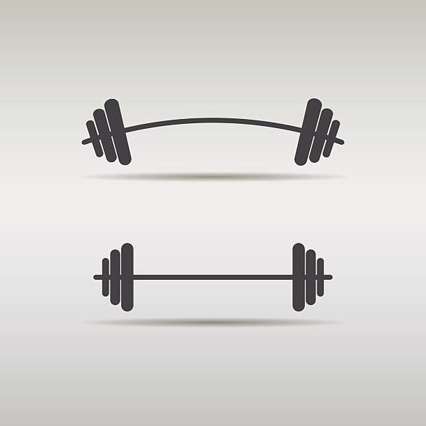 set barbell icon vector art illustration