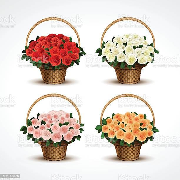 Set baskets of roses isolated vector id522148375?b=1&k=6&m=522148375&s=612x612&h=zyporiqvcb0nhw nkm52r2dbo 0691zgnshtd5i2abm=