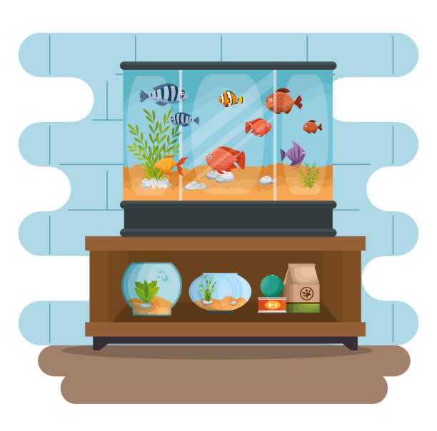 美しい水族館のアイコンを設定します。 - 水族館点のイラスト素材/クリップアート素材/マンガ素材/アイコン素材