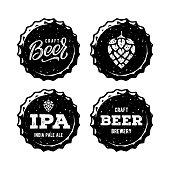 Craft Beer Vintage Emblem For Beer House, Brewing Company, Beer House, Pub, Bar. Vector illustration