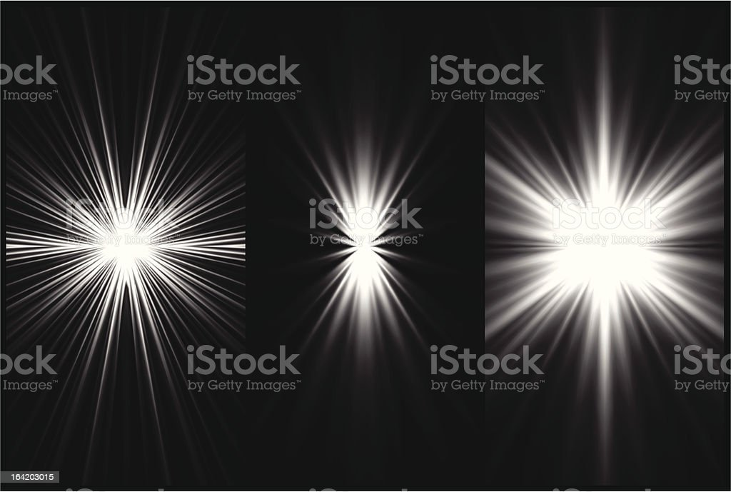 Set Black and White Lighting background. Vector royalty-free set black and white lighting background vector stock vector art & more images of abstract