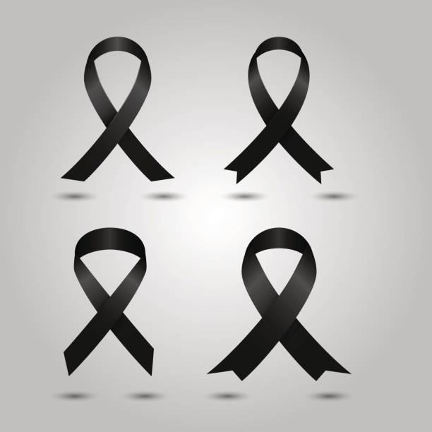 Royalty Free Mourning Ribbon Clip Art Vector Images Illustrations
