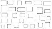 istock Set Black Simple Line Frame Collection Doodle Square Floral Frame Leaves Elements Vector Design Style Sketch Isolated Illustration For Banner 1282113201