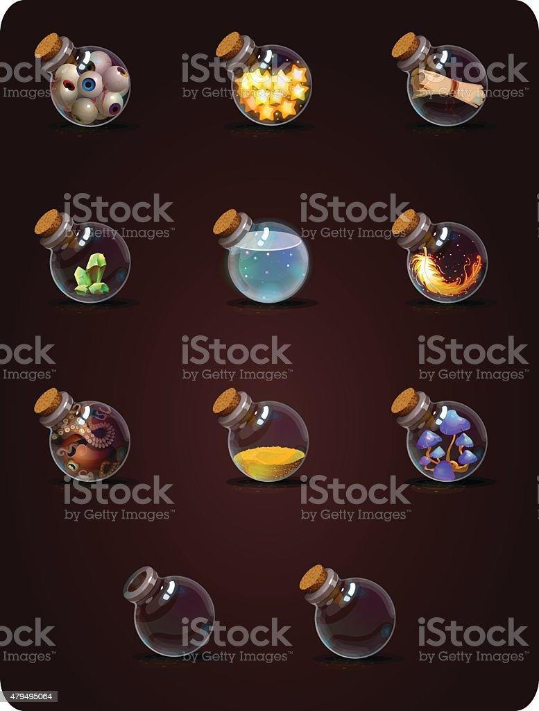 set bottels vector art illustration