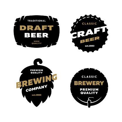 Set brewing logo, emblem.