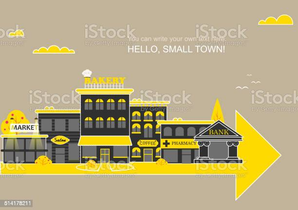 Set 건물 소규모 비즈니스 평편 디자인식 거리에 대한 스톡 벡터 아트 및 기타 이미지