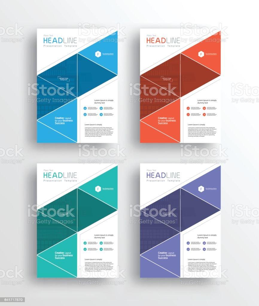 ilustração de set business marketing flyer brochureposter and report