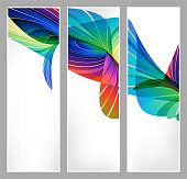 バナー広告、プレゼンテーションのビジネス テンプレートを設定します。明るい抽象化です。