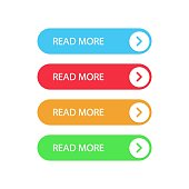 Set buttons Read More on white background.Vector illustration