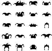 Set caps jester silhouette