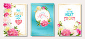 Set cards Mothers Day