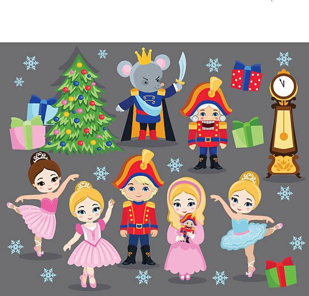 Nutcracker Christmas Tree Clipart.Best Nutcracker Illustrations Royalty Free Vector Graphics