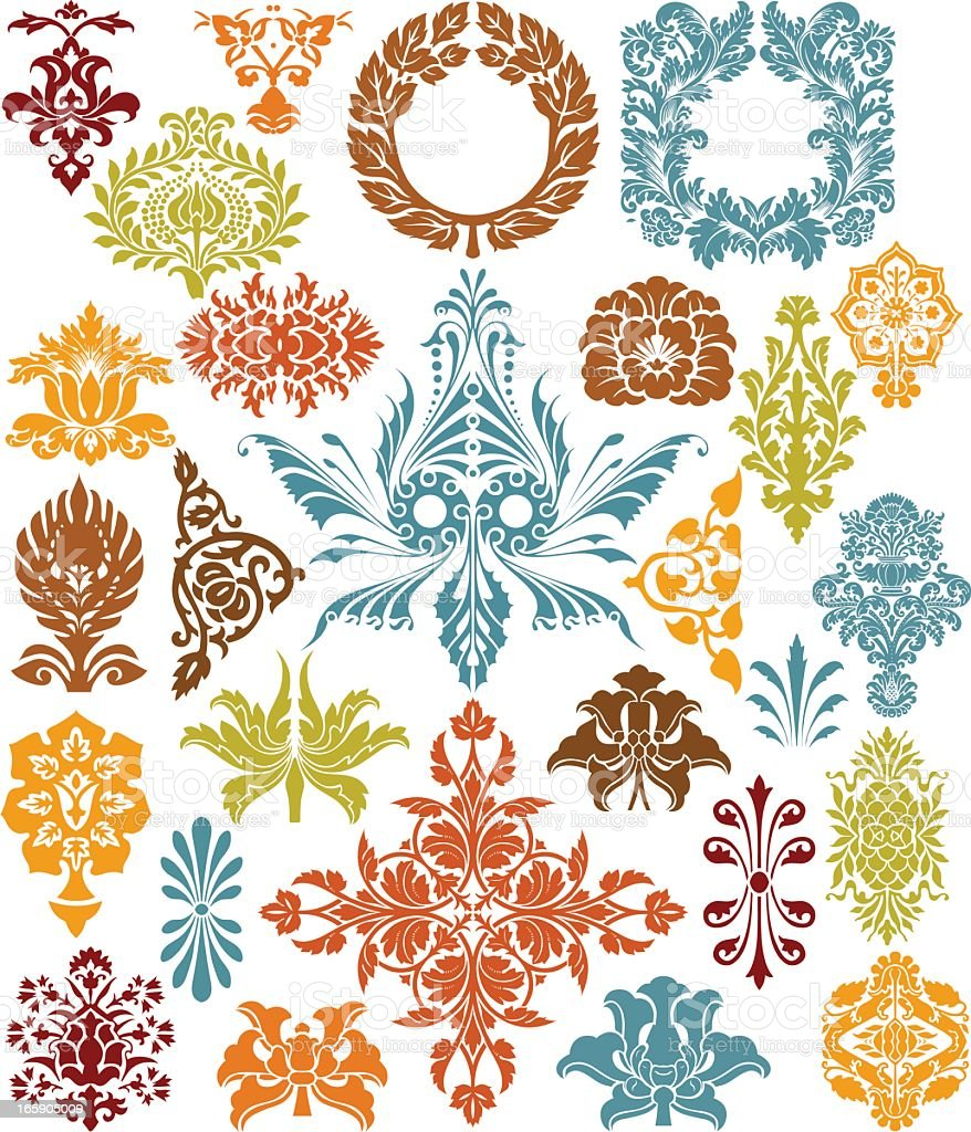 reto set royalty-free stock vector art
