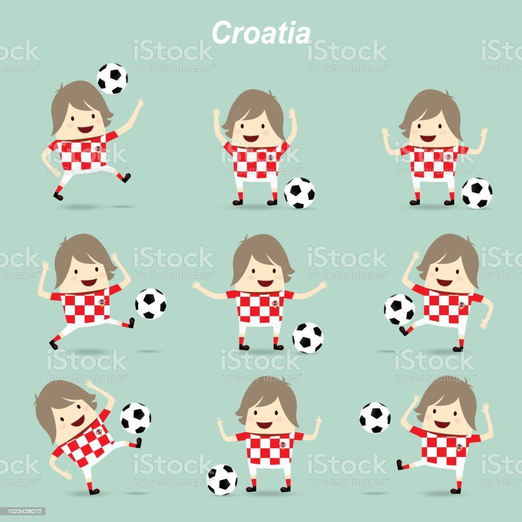 Set Character Actions Croatia National Football Team Businessman ... 15a96b739