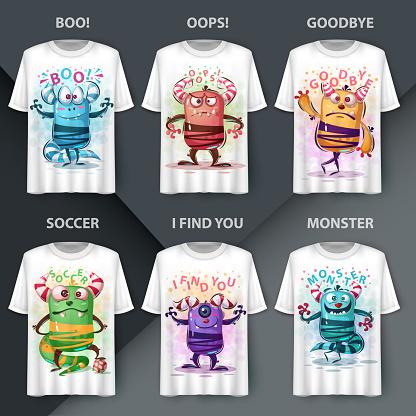 Set character - monster cartoon monster