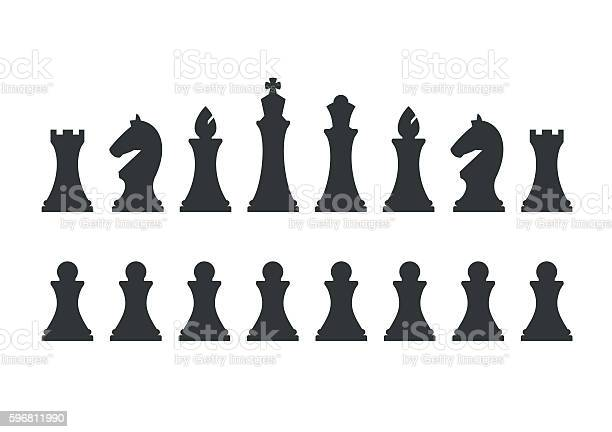 Set chess pieces isolated on white background vector id596811990?b=1&k=6&m=596811990&s=612x612&h=xtex7jtxmg9paeow6eyxlu99k3x5hcbmjvb04vpxbus=