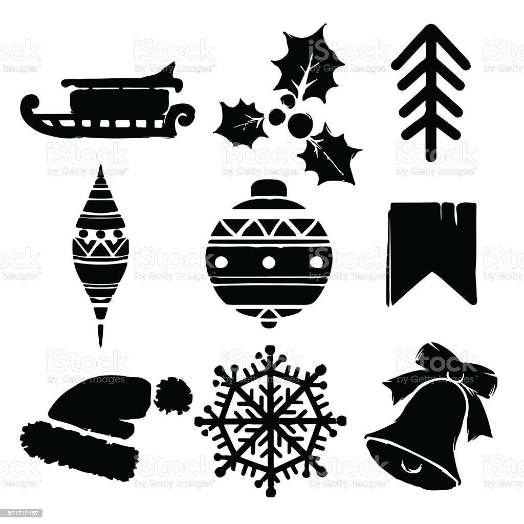 Ilustración De Conjunto De Dibujos Animados De Navidad