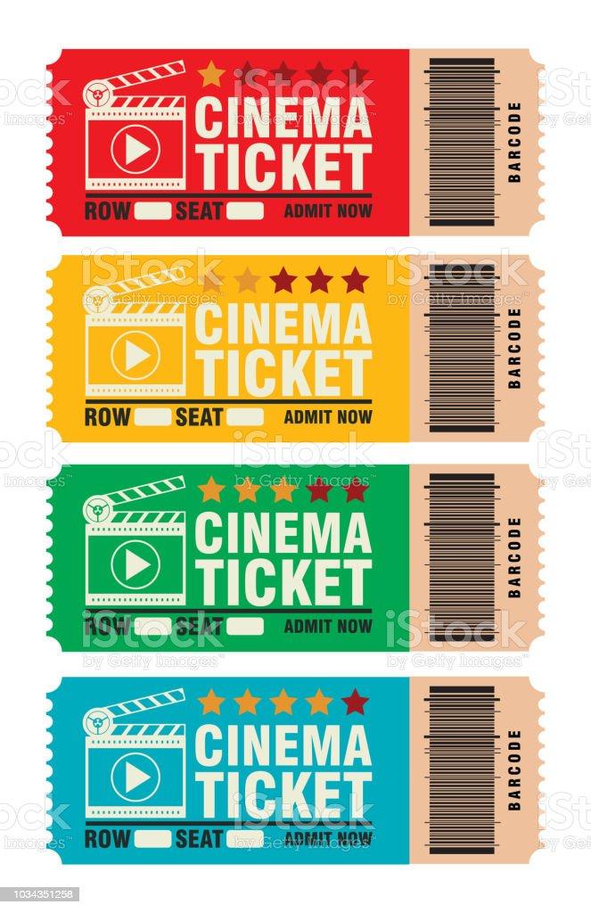 Instellen Van Bioscoopkaartje Overslaan Om Naar Te Kijken Van Films