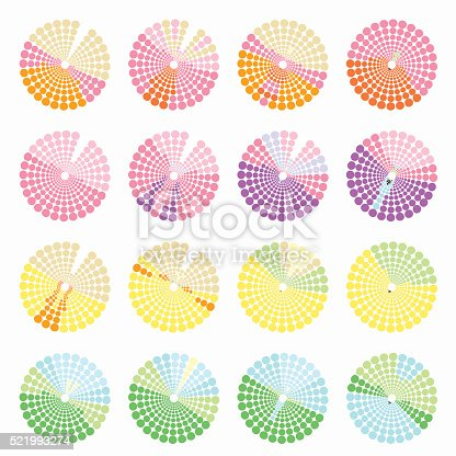 istock Set circular color different shades is not bright vector illustr 521993274
