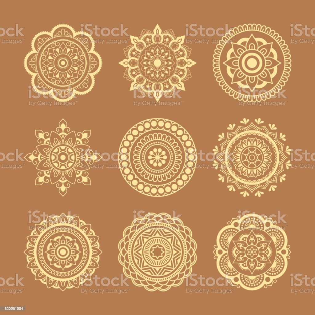 Dairesel Kalibi Mandala Seklinde Tanimlar Kina Dovme Mandala