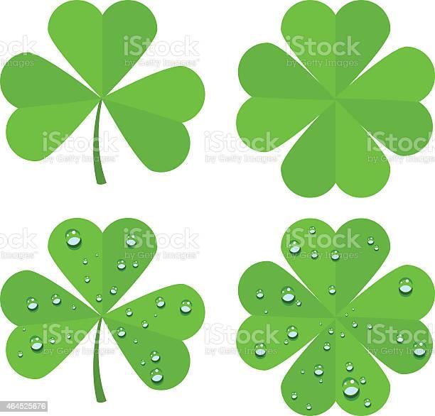Set clover leaves isolated on white background vector id464525676?b=1&k=6&m=464525676&s=612x612&h=6ushpll5u3frqc4 xmix3ehgnnuikexaki8zmpayw1s=