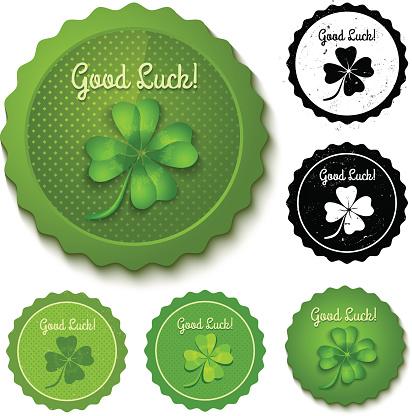Set clover stamps