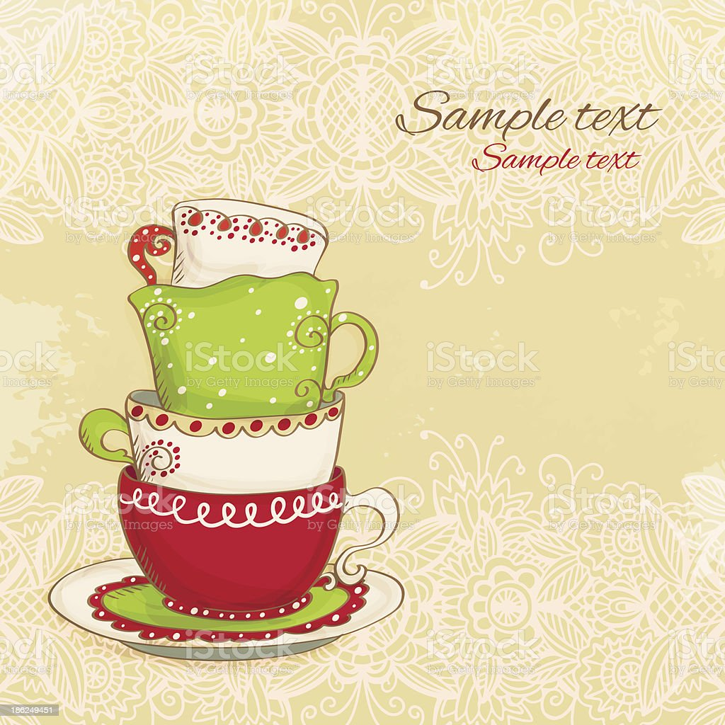 Set Coffee / Tea cups royalty-free set coffee tea cups stock vector art & more images of abstract