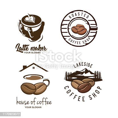 set of coffee with vintage style