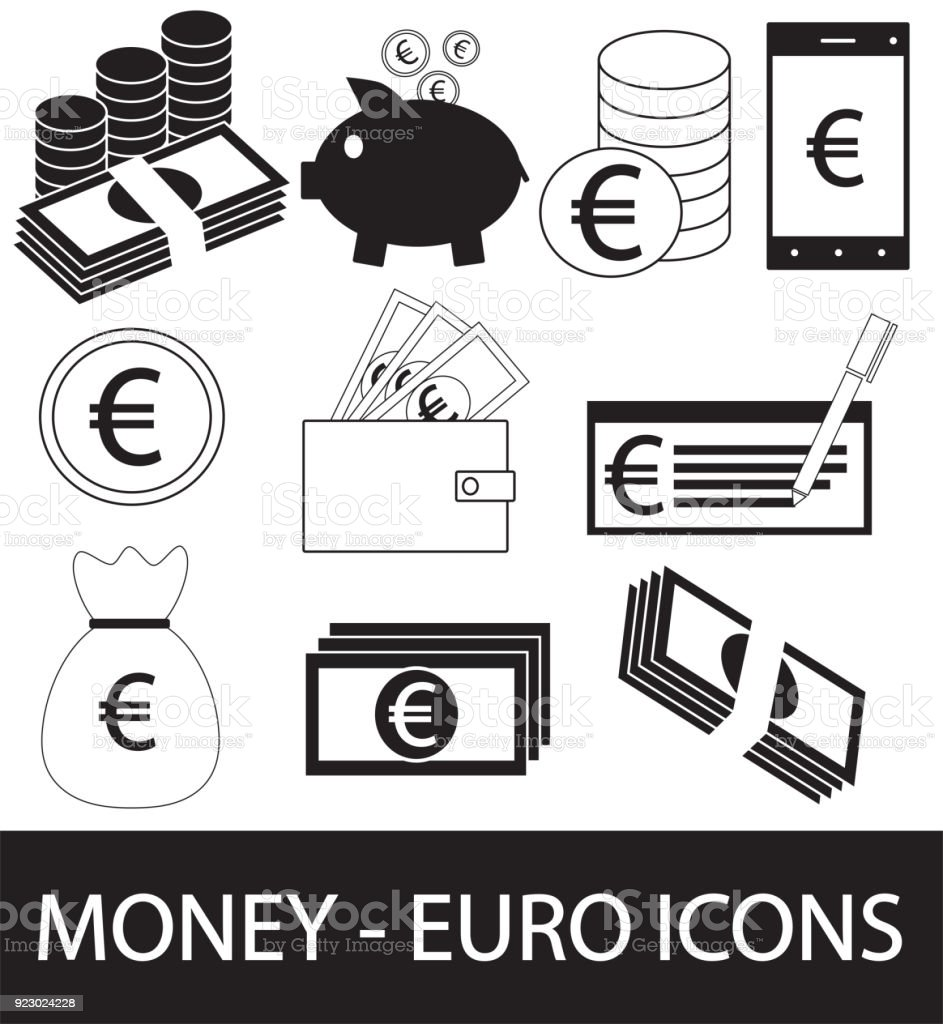 Set collection or pack of euro currency icon or symbol vector stock set collection or pack of euro currency icon or symbol vector royalty free buycottarizona Choice Image